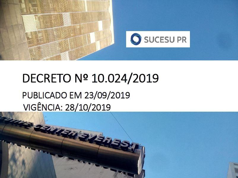 Decreto nº 10.024/2019